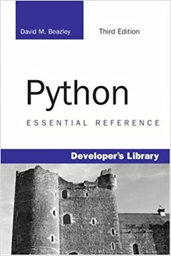Python Essential Reference (3rd Edition) by David M. Beazley