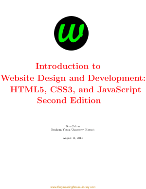 Introduction to Website Design and Development HTML5 CSS3 and JavaScript. Second Edition by Don Colton